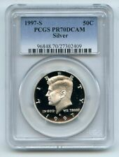1997 S 50C Silver Kennedy Half Dollar Proof PCGS PR70DCAM