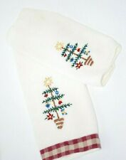 CHRISTMAS Set of  1 Hand Towel & 1 Fingertip Towel IVORY