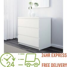 ikea Chest of 3 drawers KULLEN White 70x72 cm