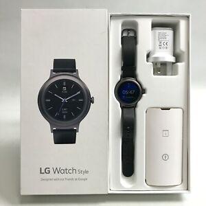 LG Watch Style Smartwatch LG-W270 Android Wear 2.0 Digital Display Black 483112