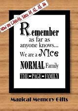 family gift funny gift print personalised family quote, Daddy, dad Grandad a4
