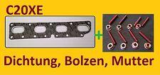 C20XE Abgaskrümmerdichtung , Kupfer Stehbolzen, Muttern Opel 850632