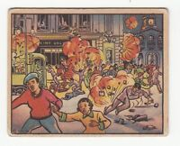 [60785] 1938 GUM INC. HORRORS OF WAR CARD #137 MOVIE CROWDS CAUGHT REBEL SHELLS