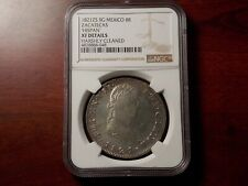1821 Mexico War of Independence Zacatecas 8 Real Silver coin NGC XF