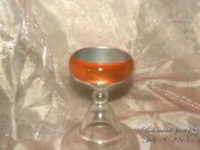 Vintage In Style Awesome Orange Cat Eye Plastic Bangle Bracelet