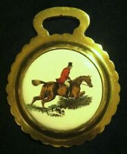 Elegant Huntsman On Chestnut Horse Porcelain Harness Horse Brass Wow Your Walls!