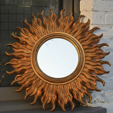 Vintage Mid Century Stylish Modern Gold French Sunburst Starburst Mirror