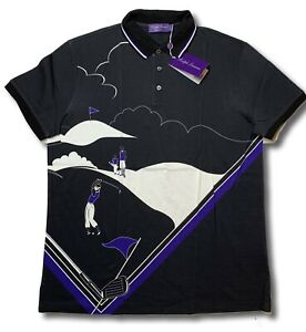 $495 Ralph Lauren Purple Label Golf Cotton Polo Shirt Size XL Made in Italy