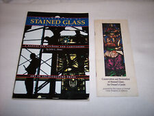 CONSERVATION OF STAINED GLASS IN AMERICA BY SLOAN - VG+++ & RARE CSGWA PAMPHLET