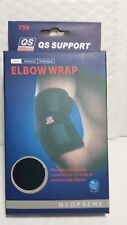 QS SUPPORT ELBOW WRAP 759 NEOPRENE MADE IN CHINA ADJUSTABLE FIT ONE SIZE BLACK