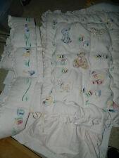 Beautiful hand painted Kids Line Crib set Quilt skirt bumper kidsline embossed