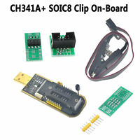 CH341A 24 25 Series EEPROM Flash BIOS USB Programmer + SOIC8 Clip On-Board Hot