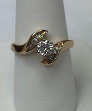 14K Yellow Gold Round Cut Diamond Wedding Ring .60 Ct. Size 7.25