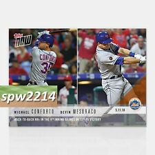 2018 Topps Now Michael Conforto/Devin Mesoraco #200 Back-to-Back HRs Lift Mets