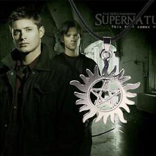 Vogue Hot Supernatural Dean Anti-Possession Symbol Pentagram Pendant Necklace DL