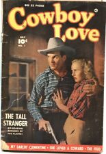 COWBOY LOVE #1-1949-FAWCETT PHOTO COVER-ROCKY LANE BACK COVER-WESTERN