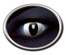 ZOE UV CAT EYE black white lentille de couleur blanche noir UV lens contact chat