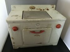 Vintage Toy Electric Oven And Stove 1950s White/Red WORKS