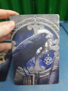 Alchemy Gothic 3d Postcard Crow