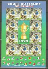 FRANCE 1999...SOUV. SHEET n° 26...RUGBY...WORLD CUP