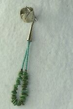 VINTAGE LATE 1970'S STERLING SILVER DANGLING TURQUOISE EAR CUFF