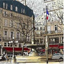 Fountain In Paris City Street - City Streets Series - Canvas Print - New