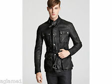 $1895 burberry washed calf leather motorcycle jacket Medium made Italy Sold Out