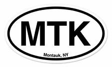 "MTK Montauk New York Oval car window bumper sticker decal 5"" x 3"""