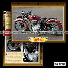 #059.09 Fiche Moto MOTOBECANE 500 R 55 C SUPER CULASSE 1938 Classic Motorcycle