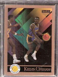 Autographed 1990 Skybox Kelvin Upshaw Golden State Warriors Dallas Mavericks