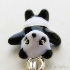 Panda Bear Black White Enamel European Charm Bead For Bracelets And Necklaces