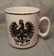 Old Germany Eagle Crest Gold Rim White Coffee Tea Mug Cup Bavaria