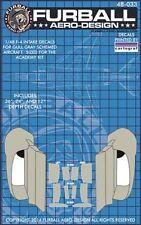Furball Aero-Design 1/48 Gull Grey Phantom Intake Interiors # 48033