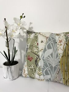 "Angel Strawbridge- Chateau Nouveau Wallpaper Fabric Cushion Cover 16"""