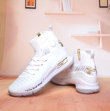 2020 White Gold Under Armour Curry 4 TRAINING Basketball Shoes Size US5-12