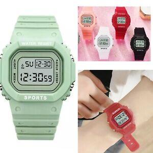 New Digital Green Watch Multifunction Waterproof Sports Watch Unisex Rectangle