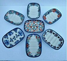 HAND PAINTED CERAMIC  OVAL SOAP DISH * Boleslawiec Pottery * Made in Poland