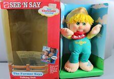 Vintage Mattel See 'N Say The Farmer Says Talking Doll NIB New 1991 Plush