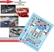 DECALS 1/24 REF 700 PORSCHE 911 ZANINI TOUR DE FRANCE AUTO 1980 RALLYE RALLY