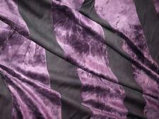Remnants Striped Velvet Interior Craft Fabrics