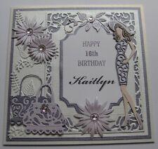 Handmade Personalised - BIRTHDAY CARD - CHOOSE NAME & AGE - Die-Cuts - Foiling