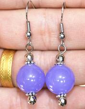 New 12mm Jewelry & Violet Emerald Tibet Sterling Silver Stud Earrings