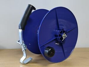 Blue Electric Fence Reel For Poly Tape Rope Wire Fencing Plastic Brake Handle