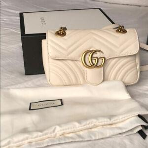 Gucci White small Marmont bag