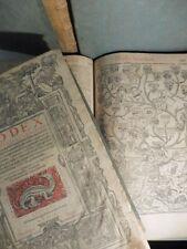 Corpus juris civilis, 5 volumi, edizione Sennentonios fratres, 1550, rarissimo
