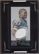 2008 Topps Mayo Football LaDainian Tomlinson Framed Mini Game Worn Jersey Card