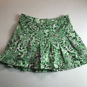 Lady Hagen Womens Golf Skort Size 10 Pleated Abstract Green Brown White Side Zip