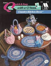 Annie's Attic Quick & Easy with a Q Hook COUNTRY KITCHEN DECOR Leaflet 653A