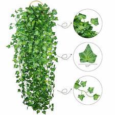 12pcs Artificial Ivy Leaf Plants Vine Hanging Garland Fake Flowers Home Decor US