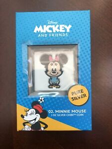 2021 Chibi Disney series 02. Minnie Mouse 1 oz .999 silver coin Ships Free